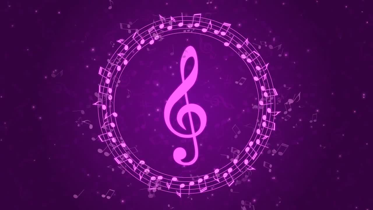 Purple Musical Background - Stock Motion Graphics | Motion ...