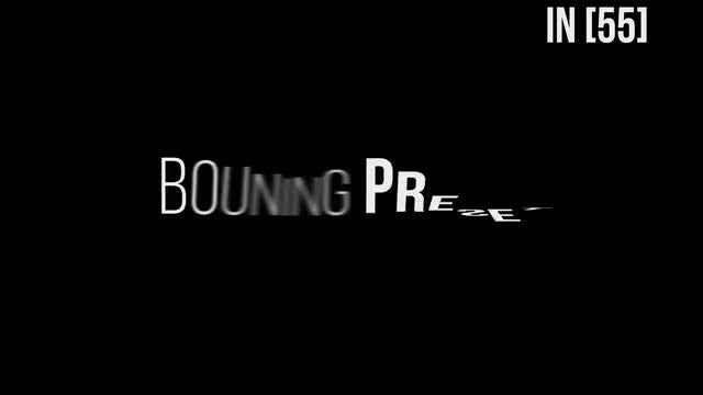 Bouning TextPreset V2.0: After Effects Presets