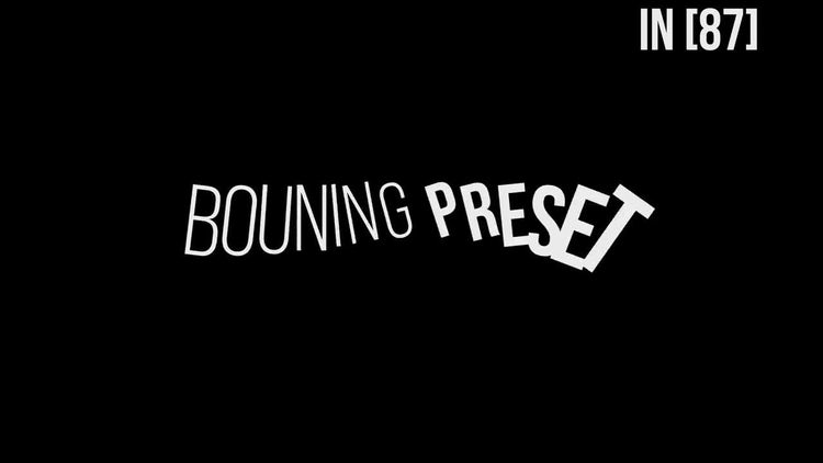Bouning TextPreset V3.0: After Effects Presets