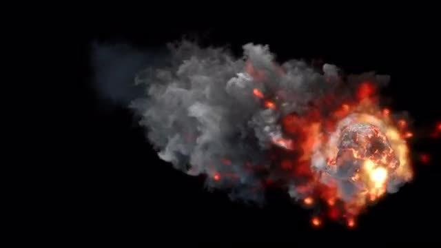Flaming Meteor: Stock Motion Graphics
