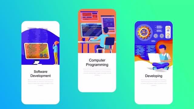Web Development Flat - Instagram Stories: After Effects Templates