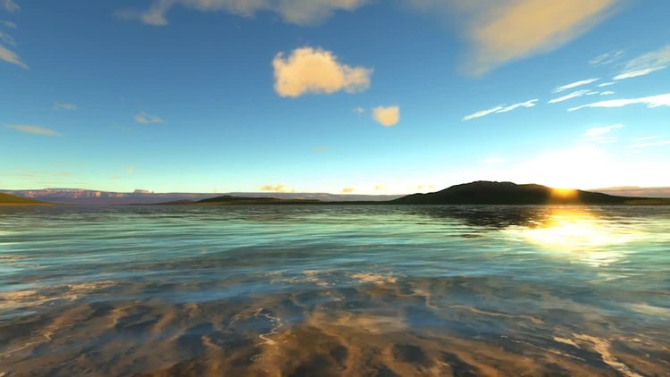 Sea Coast Background: Motion Graphics