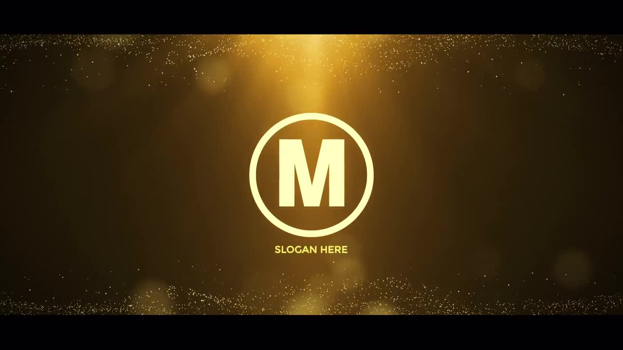 Gold Logo Reveal After Effects Templates Motion Array