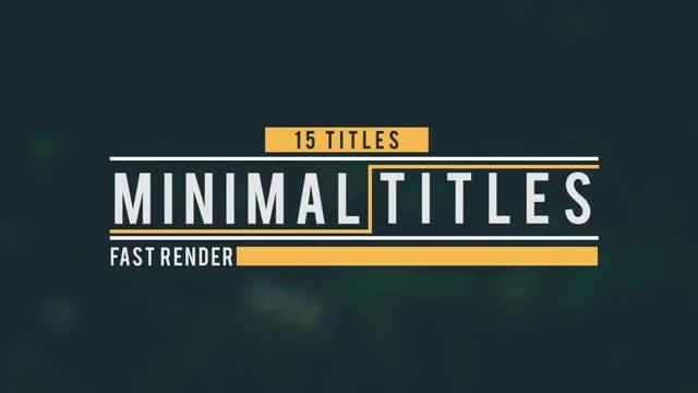 15 Motion Titles: Premiere Pro Templates