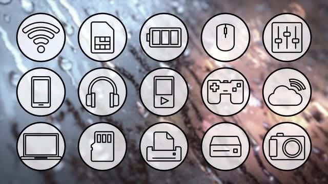 Technology Icons Pack: Stock Motion Graphics