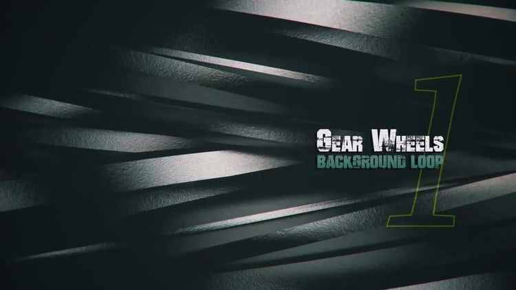 3D Metal Gears V1: Motion Graphics