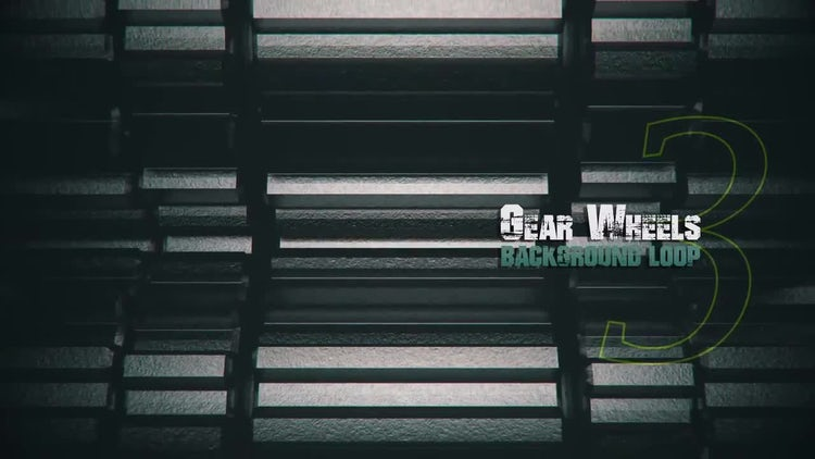 3D Metal Gears V3: Motion Graphics