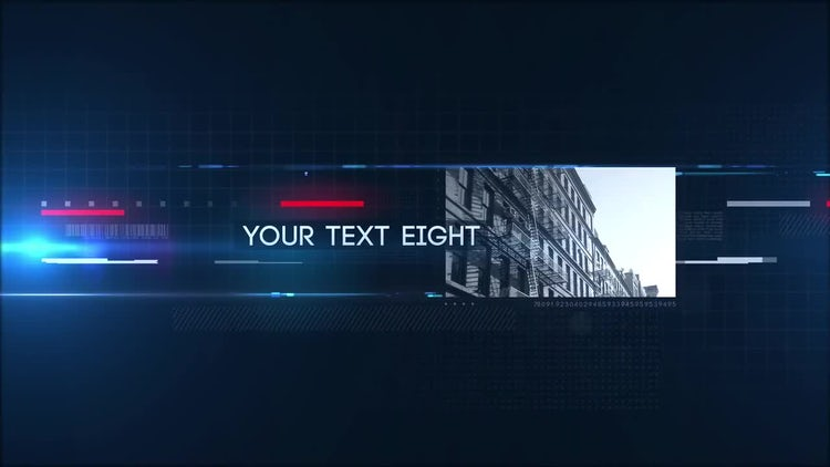 4K Infoblock: After Effects Templates