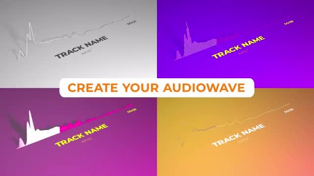 Minimalistic Clean Audio Visualizer: After Effects Templates