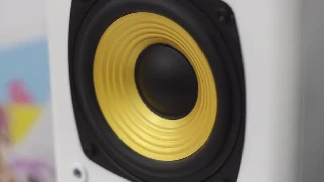Gold Speaker: Stock Video