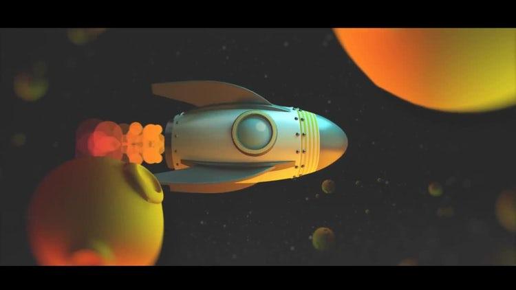 Cartoon Rocket Logo: After Effects Templates