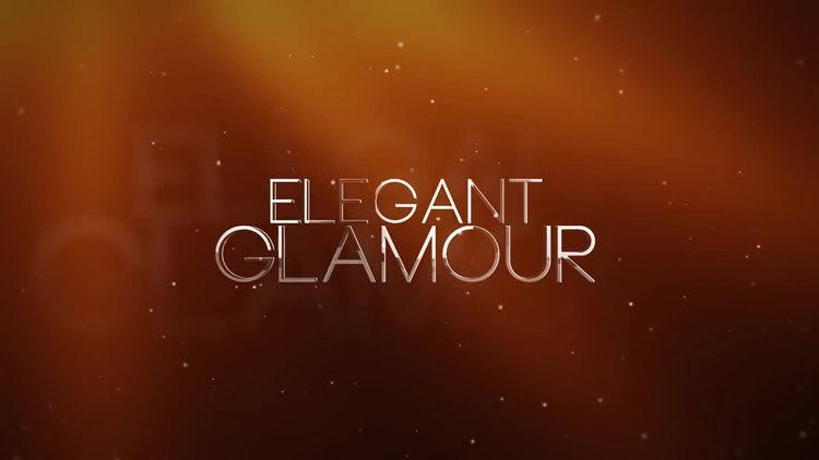 Elegant Glamour: After Effects Templates