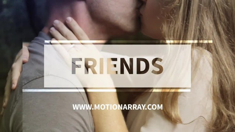 Friends: After Effects Templates