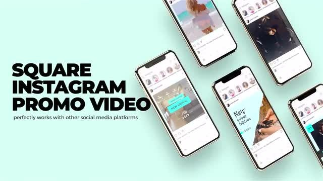Instagram Square Slideshow: After Effects Templates