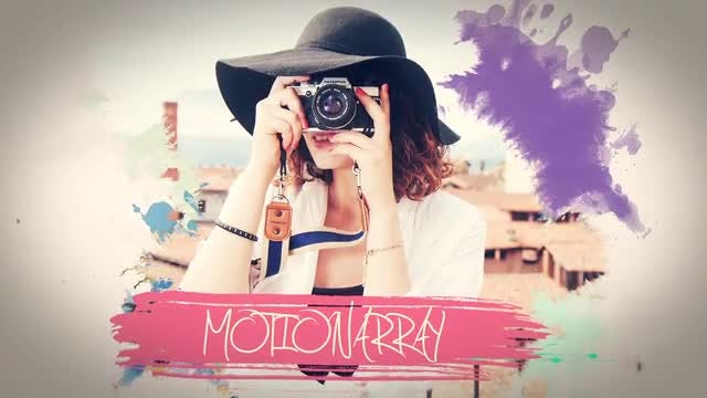 Watercolor And Ink Slideshow: After Effects Templates