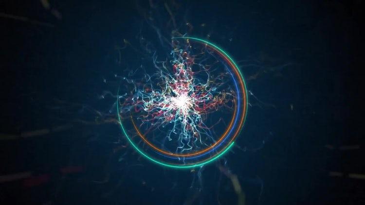 Particle Energy Logo: Premiere Pro Templates