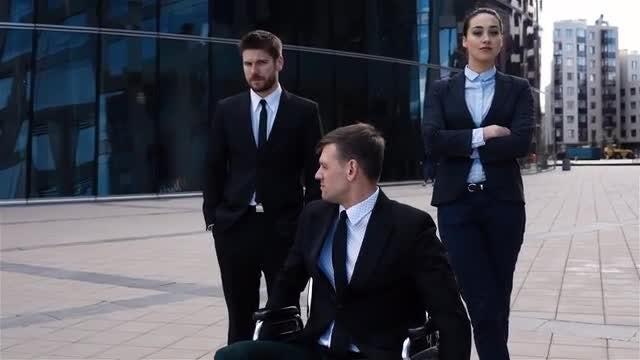 Handicapped Man: Stock Video