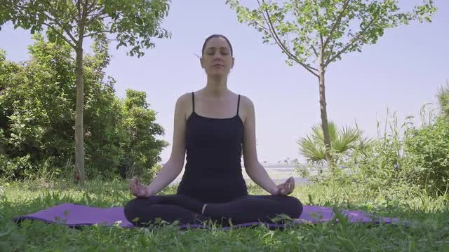 Yoga In Nature: Stock Video