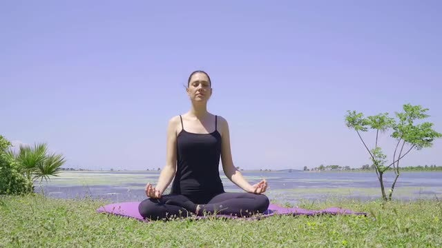 Meditation In Nature: Stock Video