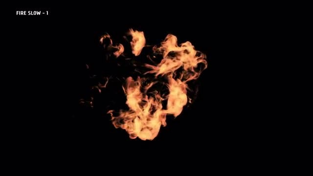 Slow Motion Fire Blasts 2: Stock Video