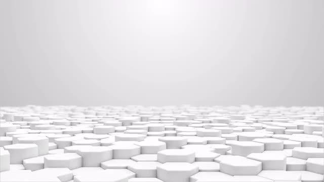 White Hexagon Floor: Stock Motion Graphics