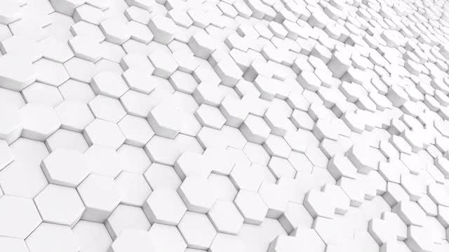 White Hexagon Incline: Stock Motion Graphics