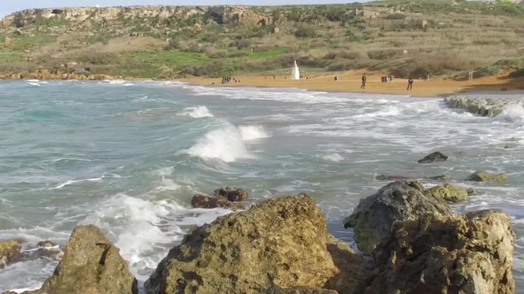 Rocks In The Ocean: Stock Video