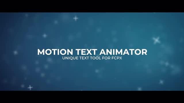 Motion Text Animator: Final Cut Pro Templates