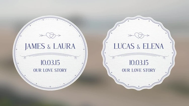 Wedding Badges: After Effects Templates