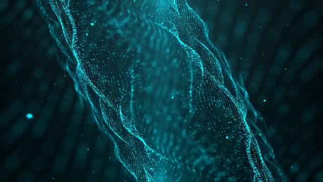 Blue Flowing Particles Background: Stock Motion Graphics
