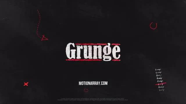 Grunge Logo: Premiere Pro Templates