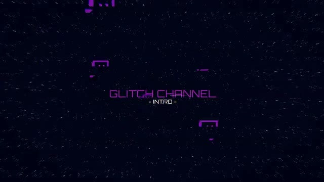 Glitch Channel Logo: After Effects Templates