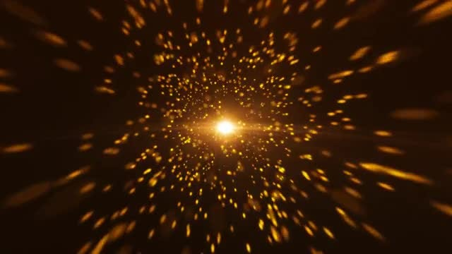 Gold Particles In Space: Stock Motion Graphics