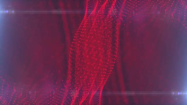 Red Dot Particle Background: Stock Motion Graphics