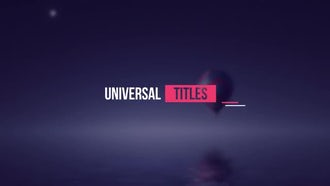 Minimal Title Pack: After Effects Templates