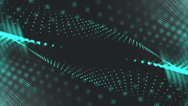 Cyan Half-tone Modern Background: Stock Motion Graphics