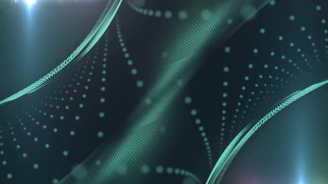 Cyan Curved Surfaces: Stock Motion Graphics