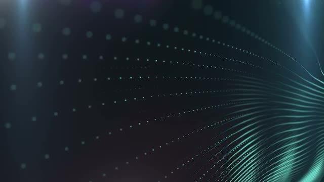 Cyan  Lights Wall: Stock Motion Graphics
