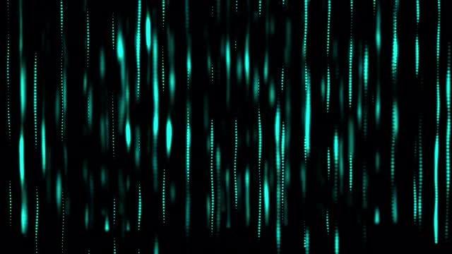 Cyan Glowing Beams: Stock Motion Graphics