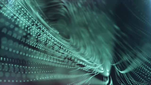 Cyan Particles Abstract: Stock Motion Graphics