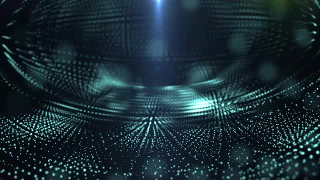 Concave Cyan Particles: Stock Motion Graphics