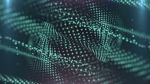 Cyan Oblique Particles: Stock Motion Graphics