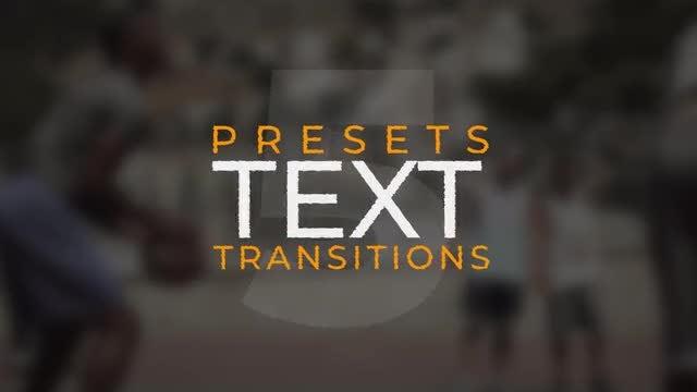 Text Transitions V.5: Premiere Pro Presets