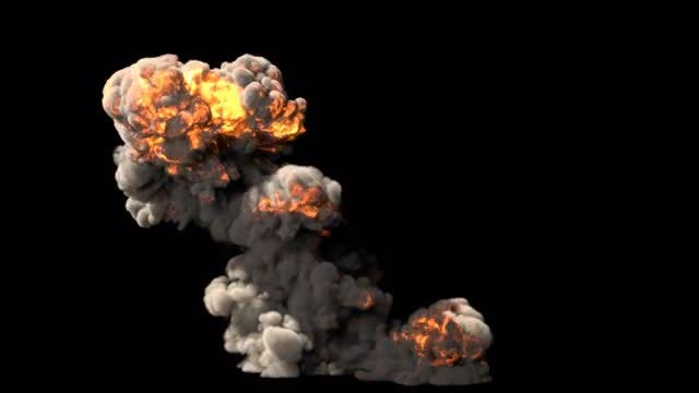 Smoke And Flames Explosion: Stock Motion Graphics