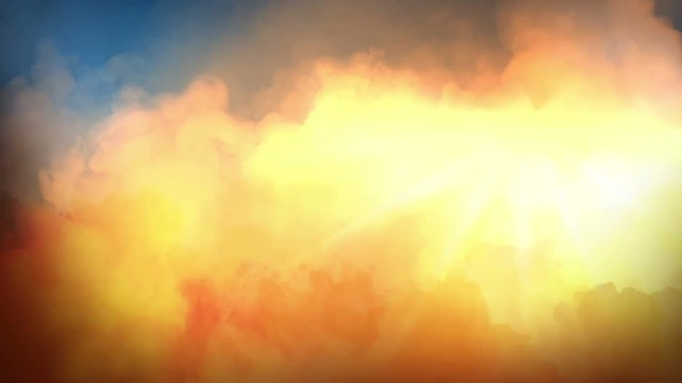 Fiery Golden Clouds: Stock Motion Graphics