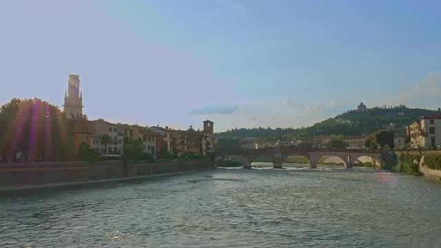 Adige River: Stock Video