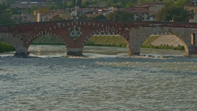 Old Stone Bridge: Stock Video