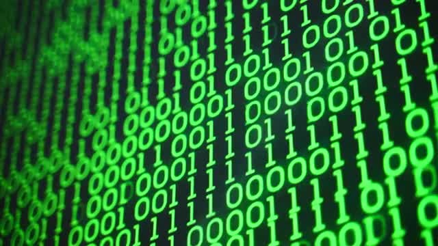 Green Binary Code: Stock Motion Graphics