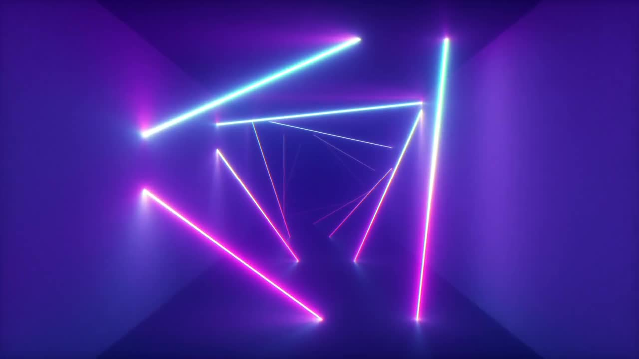 Neon Lights Pageway Stock Motion Graphics Array