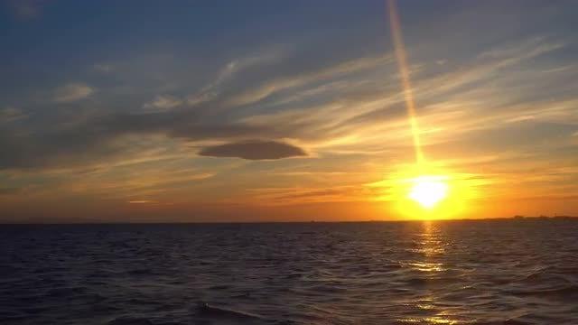 Ocean At Dusk: Stock Video